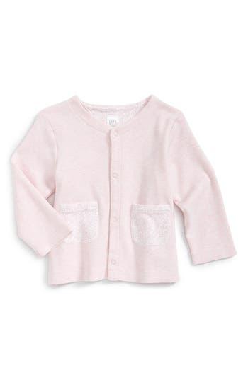 Infant Girls Nordstrom Baby Contrast Pocket Cotton Cardigan
