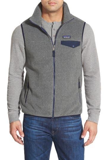 Men's Patagonia 'Synchilla Snap-T' Zip Fleece Vest, Size XX-Large - Grey
