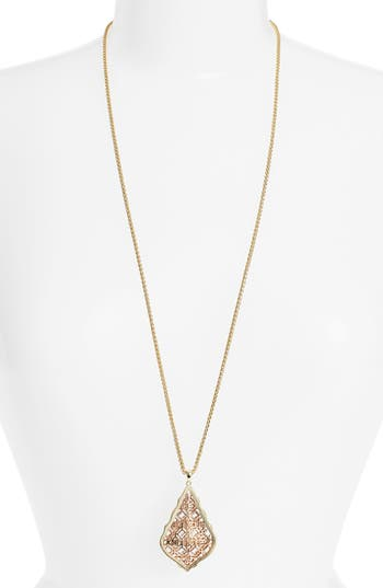 Kendra Scott Aiden Pendant Necklace Rose Gold Gift