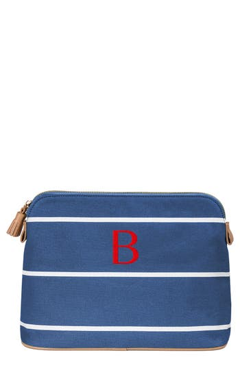 Cathy's Concepts Monogram Cosmetics Bag