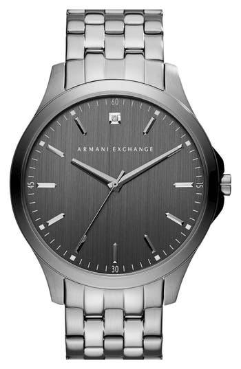 men's ax armani exchange bracelet watch, 46mm