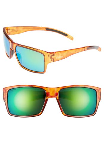 Women's Smith 'Outlier Xl' 56Mm Polarized Sunglasses - Honey Tortoise/ Polar Green