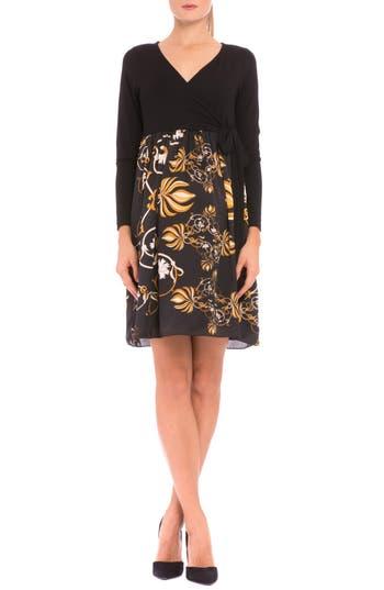Women's Olian 'Giorgina' Maternity Wrap Dress