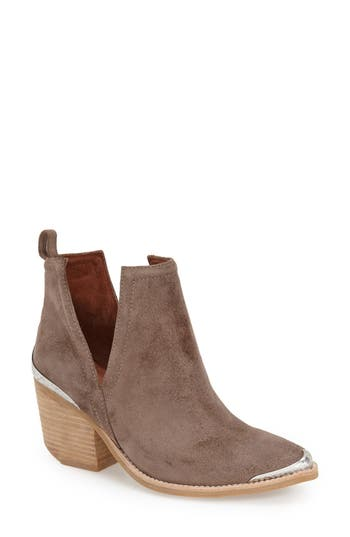 Jeffrey Campbell Cromwell Cutout Western Boot, Beige