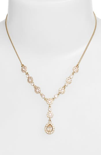 Givenchy Pavé Crystal Y-Necklace