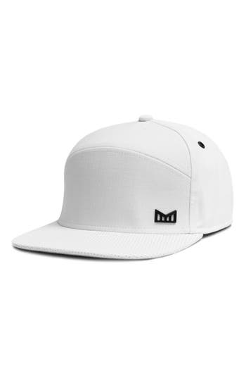 3076ed0979a Men s Melin  The Vision  Horizon Fit Flat Brim Baseball Cap - White