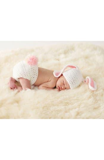Infant Girls Mud Pie Bunny Knit Cap  Bloomers Set