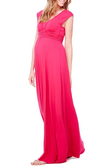 Ingrid & Isabel Empire Waist Maternity Maxi Dress