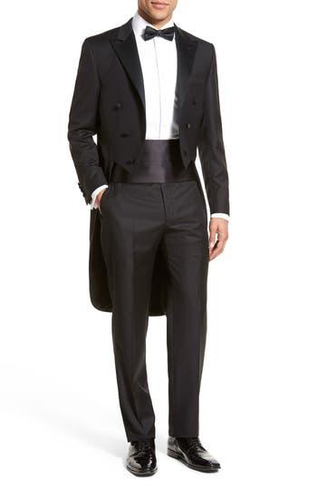 Hickey Freeman Classic B Fit Tasmanian Wool Tailcoat Tuxedo