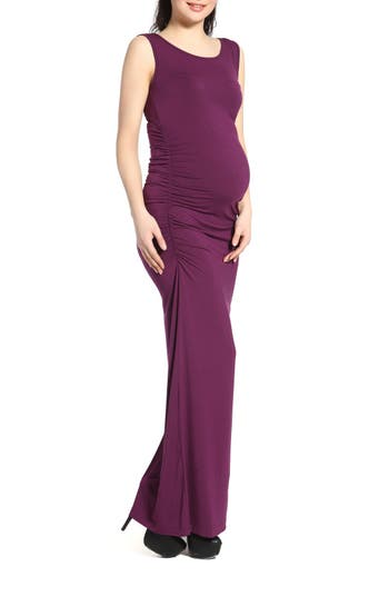 Kimi And Kai Maternity Maxi Tank Dress, Purple