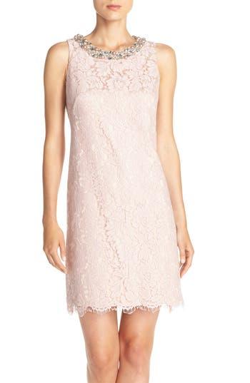 Eliza J Embellished A-Line Dress