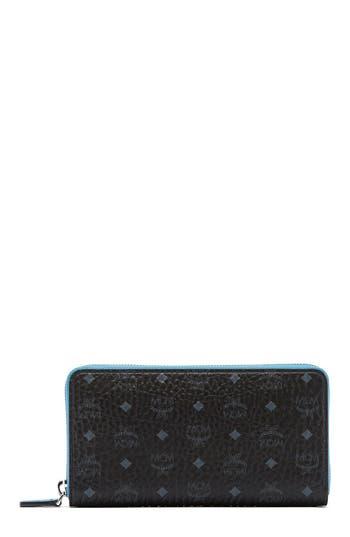 Women's Mcm Visetos Coated Canvas Zip Wallet -