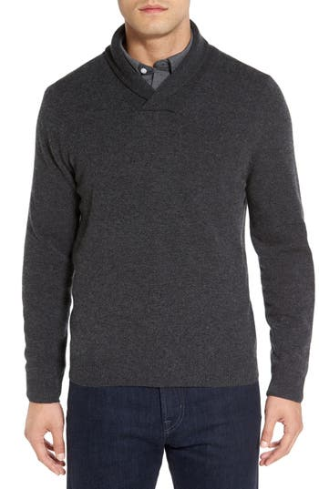 Nordstrom Men's Shop Shawl Collar Cashmere Pullover