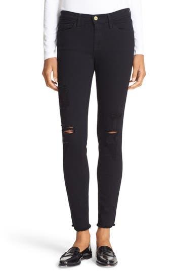 Women's Frame 'Le Skinny De Jeanne' Ripped Jeans