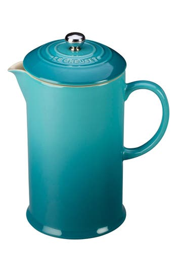Le Creuset Stoneware French Press, Size One Size - Blue