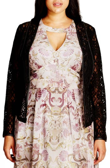 Plus Size Women's City Chic Elegant Lace Jacket