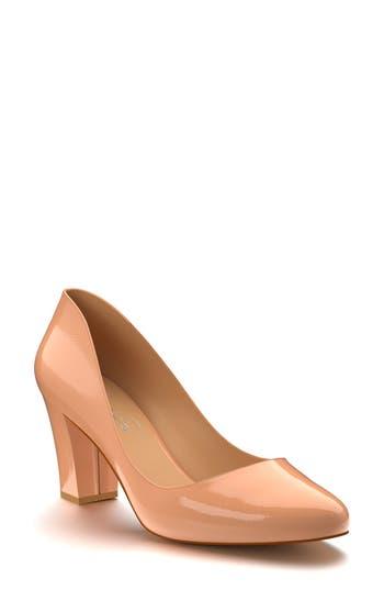 Shoes Of Prey Block Heel Pump - Beige