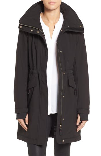 Women's Eliza J Soft Shell Hooded Raincoat