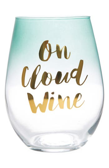 'On Cloud Wine' Stemless Wine Glass