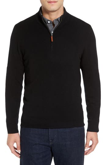 Nordstrom Men's Shop Cashmere Quarter Zip Sweater