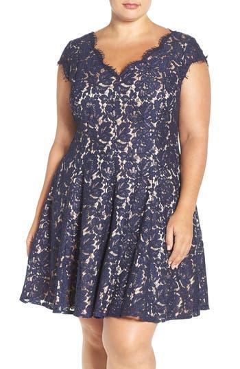 Plus Size Eliza J Lace Fit & Flare Dress