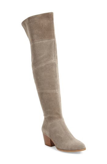 Sole Society Melbourne Over The Knee Boot- Grey