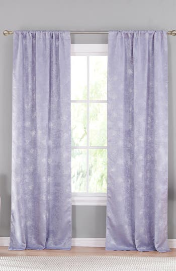 Lala + Bash Clarice Blackout Window Panels, Size One Size - Purple
