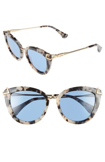 Sonix Melrose 51Mm Gradient Cat Eye Sunglasses - Blue Fade/ Milk Tortoise