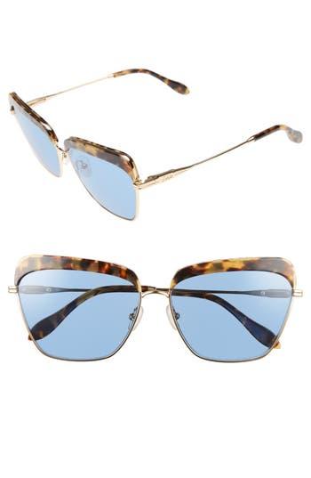 Sonix Highland 61Mm Square Sunglasses - Blue Tint/ Brown Tortoise