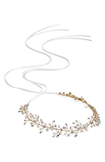 Brides & Hairpins Bianca Crystal Halo & Sash, Size One Size - Metallic