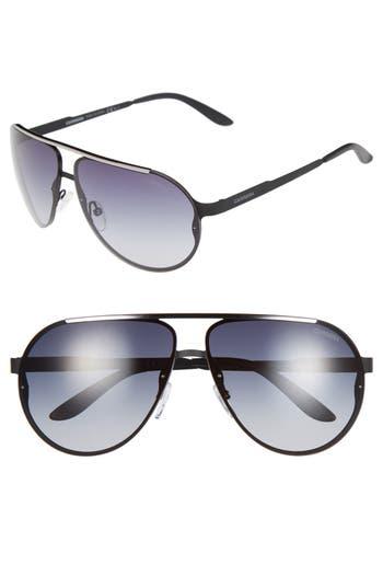 Carrera Eyewear 65Mm Aviator Sunglasses - Matte Black/ Grey Gradient