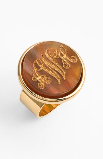 Women's Moon And Lola 'Vineyard' Personalized Monogram Ring