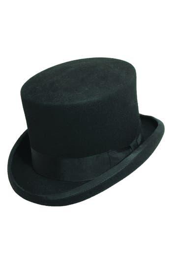 ... UPC 016698309103 product image for Men s Scala Wool Felt Top Hat Black  Medium  3fbd6f554a90