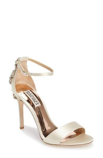 Badgley Mischka Bartley Ankle Strap Sandal, Ivory