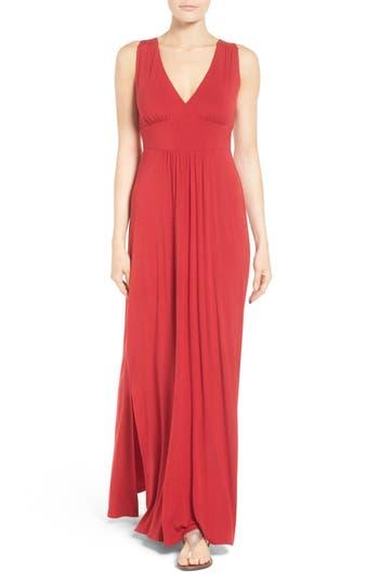 Caslon Knit Maxi Dress, Red