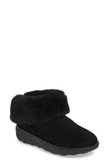 Fitflop Shorty Ii Genuine Shearling Lined Boot, Black