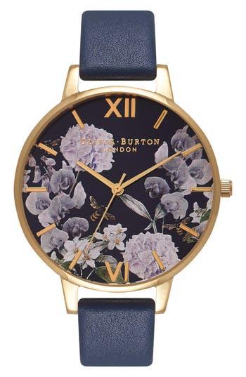 Women's Olivia Burton Leather Strap Watch, 38Mm