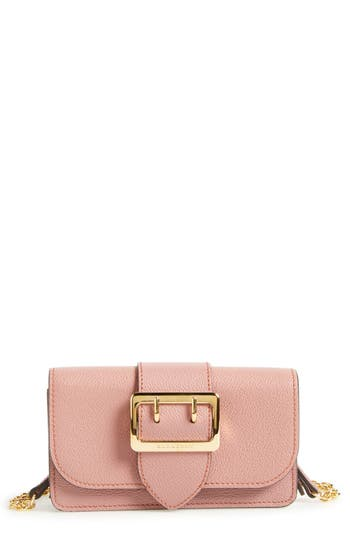 Burberry Mini Buckle Calfskin Leather Bag - Pink