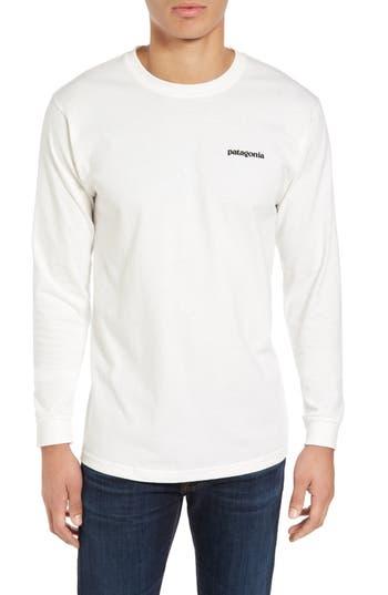 Patagonia P-6 Logo Organic Cotton T-Shirt, White