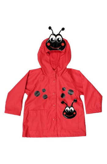 Girl's Western Chief Ladybug Hooded Raincoat