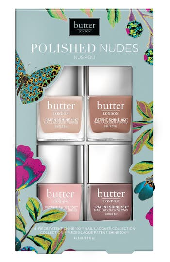 Butter London Polished Nudes Patent Shine 10X(TM) Nail Lacquer Set -