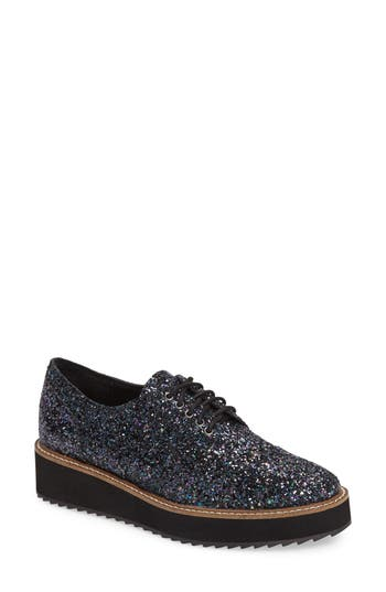 Shellys London Emma Platform Oxford, Black