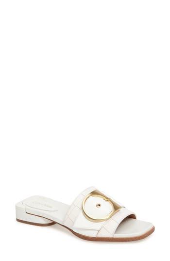 Calvin Klein Anthea Slide Sandal, White