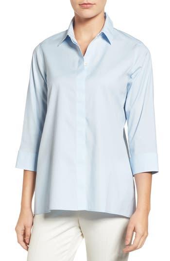 Foxcroft Gigi Stretch Cotton Tunic, Blue