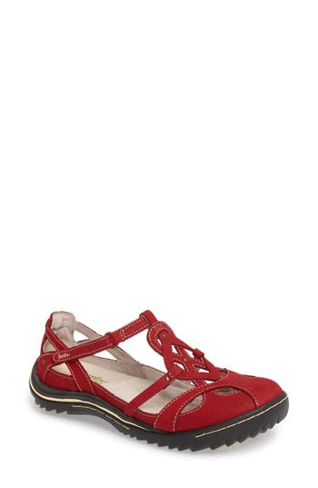 Jambu Spain Studded Strappy Sneaker, Red