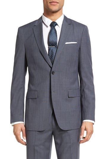 Theory Wellar Trim Fit Houndstooth Wool Sport Coat