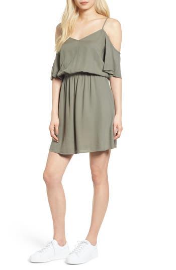 Splendid Cold Shoulder Dress, Green