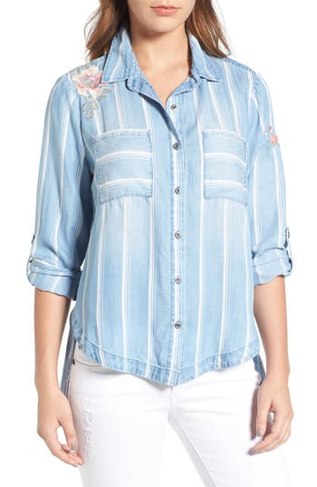 Women's Billy T Embroidered Chambray Shirt