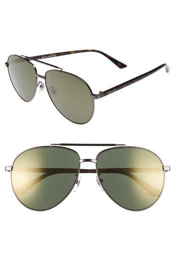 Women's Gucci 61Mm Aviator Sunglasses -