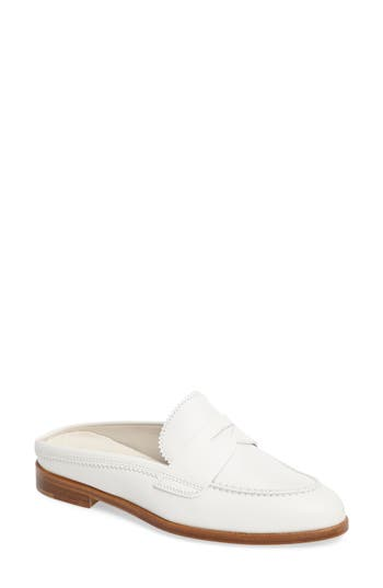 Agl Penny Loafer Mule - White